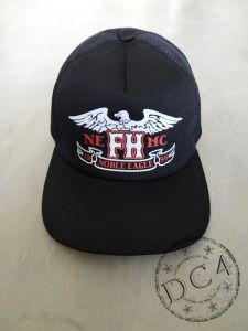 The Flat Head  -  ** EAGLE **  -  Mesh Cap  -  Black