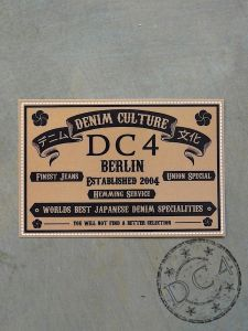 DC4 Sticker ** DENIM CULTURE **