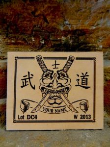 Custom Leather Patch  *** Hannya Mask ***