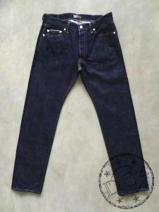 Samurai  Jeans - S004JP - LIMITED JEANS - 15oz TAMASHII Selvedge Denim - Yamato Model - Indigo - Slim Tapered