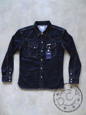 The Flat Head -  F-DS003 - Denim Shirt - Selvedge - Zimbabwe Cotton