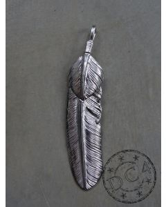 First Arrow`s - Feather Pendant with Heartfeather - Large - Right