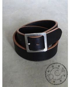 Samurai Jeans - Super Thick - Oiled Horween Leather Belt - Black