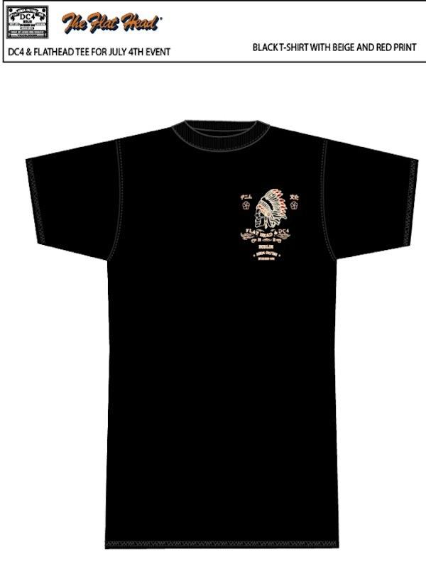 DC4 & The Flat Head - 1. European Party - T-Shirt Black